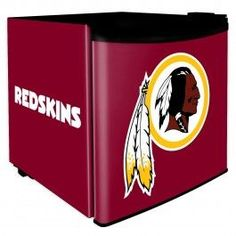 This #Redskins mini fridge is a perfect addition to a #Redskins themed dorm room!