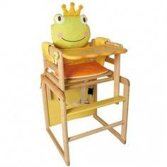 Aus eins mach zwei!    Hochstuhl oder Spieltisch mit Stuhl-diese Kombination kann beides. Der Babystuhl ist nahezu unverwüstlich.    Höhenverstellbarer Babystuhl für den kleinen Stammhalter mit Sicherheitsgurt und abnehmbarem Tischchen.