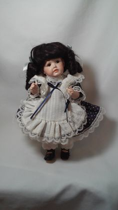 """Small Porcelain Doll ~ German Reproduction JDK Kestner 10"""" Jointed All Bisque Dolly Face Open Mouth Collectible Artist Made Doll by FugitiveKatCreations on Etsy"""