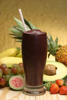 açaí + água de coco + leite de coco + farinha de tapioca #shake