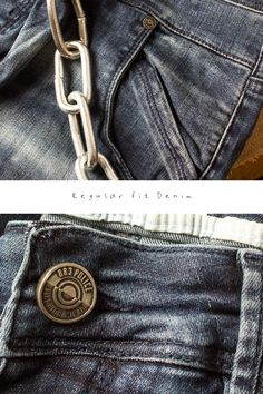 We pay close attention to the extra details for a more structured fit > Button Image, Leather Label, Red Button, Metal Buttons, Graphic Design Inspiration, Jeans Fit, Typography, Textiles, Mens Fashion