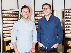 """Dave Gilboa and Neil Blumenthal cofounded Warby Parker and are co-CEOs of the billion-dollar glasses brand. Here's how they found startup success, on Business Insider's podcast """"Success! What Is Software, Professional Headshots Women, Helen Smith, Glasses Brands, Warby Parker, People In Need, Make Money Online, Chef Jackets, Crushes"""