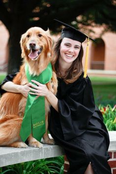 """""""I couldn't not celebrate graduating from Baylor without my favorite four-legged friend!"""""""