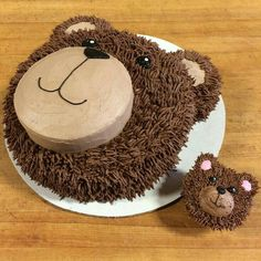 Cute Bear Cake/Cupcake Design (kids baking recipes cupcakes)