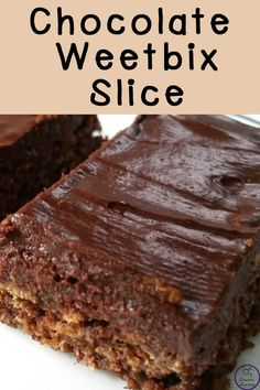 This yummy chocolate weet-bix slice is easy to make and freezes for a great lunchbox snack. You can't even tell there are weet-bix in it! Chocolate Weetbix Slice, Chocolate Icing, Baking Recipes, Cake Recipes, Dessert Recipes, Desserts, Delicious Chocolate, Tray Bakes, Weetabix Recipes