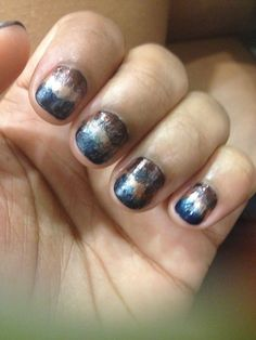 Rounded tip French acrylic nails. In my opinion, they\'re more ...