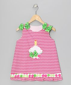 Take a look at this Pink Zigzag Cupcake Jumper - Infant, Toddler & Girls by Wiggles and Giggles on #zulily today!