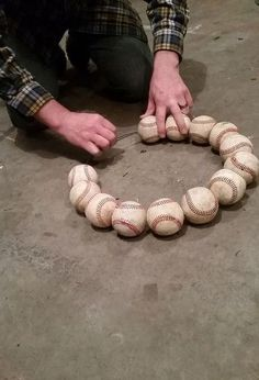 How to Make a Baseball Wreath for Your Front Door how to make a baseball wreath for your front door, crafts, how to, repurposing upcycling, wreaths Want great hints concerning arts and crafts? Go to our great site! Softball Wreath, Baseball Wreaths, Sports Wreaths, Baseball Crafts, Baseball Mom, Baseball Stuff, Baseball Party, Baseball Decorations, Softball Party