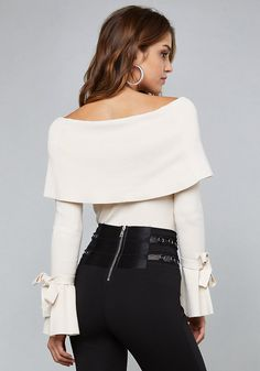 1cd68f570601fa bebe Ribbed Off Shoulder Top Off Shoulder Tops