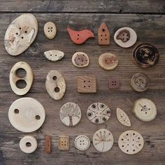 buttons by popcorntree. Like the rustic look of these buttons! Curleytop1.