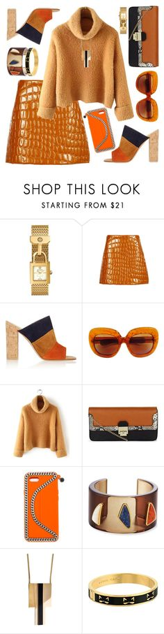 """Butternut"" by petalp ❤ liked on Polyvore featuring Tory Burch, Miu Miu, Gianvito Rossi, New Look, STELLA McCARTNEY, Lizzie Fortunato, Yves Saint Laurent, Kate Spade and outfit"