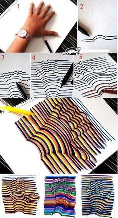 Diseño y Creatividad: Dibujo 3D en 5 pasos simples Yes.