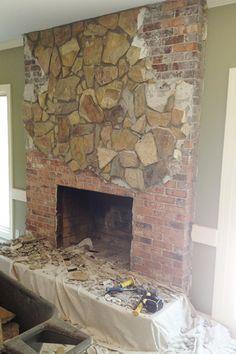 Concrete Fireplace Remodel Meets Cozy Chic