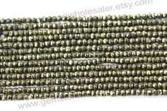Pyrite Faceted Roundel Quality AA / A pack by GemstoneWholesaler
