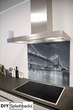 Glass Splashbacks for Kitchens New York Bridge, Printed Glass Splashbacks, Ping Pong Table, Capital City, Singapore, Kitchen, Prints, Inspiration, Design