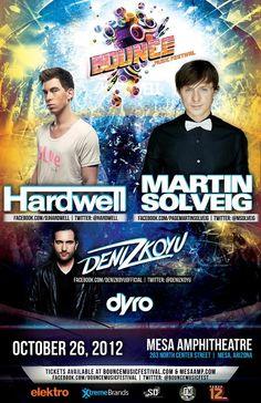 Hardwell & Martin Solveig - Bounce Music Festival - 10.26.12