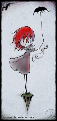 Umbrella Jump by *Monecule on deviantART