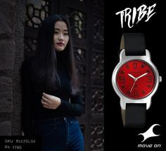 With a piece of red, explore Fastrack's #Tribe Collection. http://fastrack.in/products/watches/sku-6127sl02/