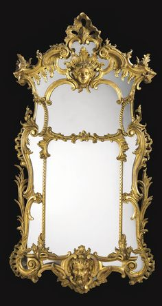 A set of four carved giltwood mirrors, two mirrors George II circa 1750, the other two made to match most probably in the 2nd quarter of the 19th century | lot | Sotheby's
