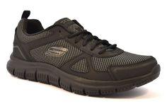 SKECHERS 52630 BBK RUNNING Nero Grigio Memory Foam Uomo Ragazzo Sneakers  Scarpa bf3a794d974