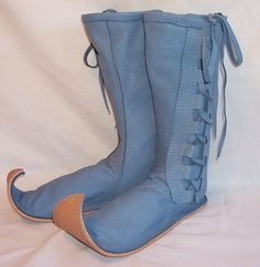 Custom Handmade Leather FAIRY BOOTS Renaissance Hobbit Cos Play Woodlands LARP Fantasy Shoes Handmade by Debbie Leather