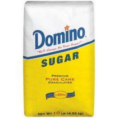 Domino: Pure Cane Granulated Sugar, 10 Lb
