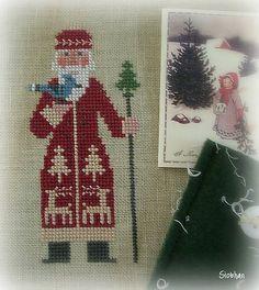 """Prairie Schooler santa- """"Kris Kringle"""" pattern lower on this board - NP"""