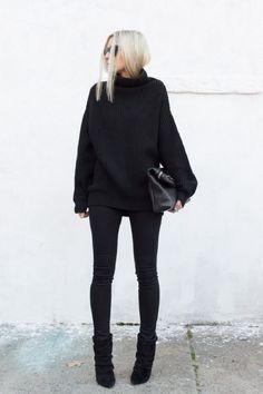 black monochrome wear