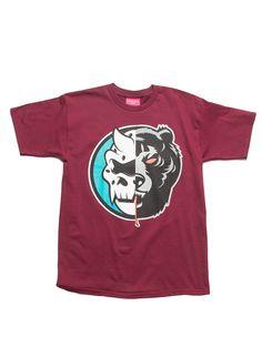 Split Icons T-Shirt (Burgundy)