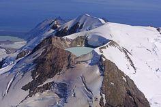 Mount Katmai crater lake, Alaska.