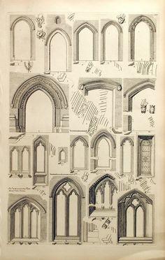1845 antiguo grabado de la arquitectura británica por bananastrudel