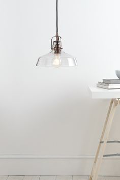 Jed Pendant Light | One Size | Clear | BHS