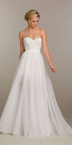 strapless sweetheart neckline wedding gowns; One day km says she likes This One ❣
