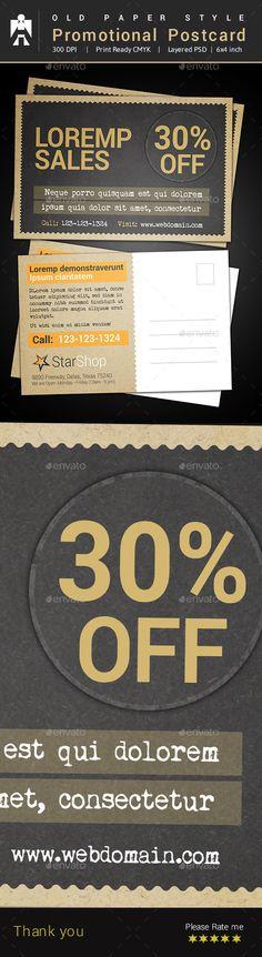 Corporate Business Postcard Psd Template Business postcards - postcard template