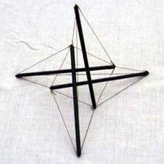 model of Snelson tensegrity tetrahedron