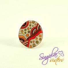 """Anillo """"Colección Colores"""" de Singular Sisters por DaWanda.com Ilustración sobre termoplástico. €16 Disponible Gastos de envío incluidos para España"""