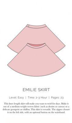 Emilie Skirt Flat free pattern