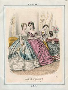 In the Swan's Shadow: Le Follet, February 1863  Civil War Era Fashion Plate