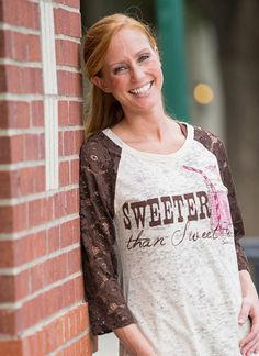 4024c1a5a Sweeter Than Sweet Tea Burnout Shirt with Lace Sleeves – Southern Grace  Outfitters