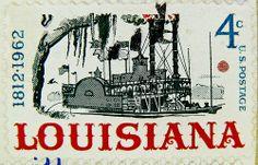 Sello EE.UU. 4c los Estados Unidos de América Luisiana 1812 1962 4c el timbre de vapor de Pala de centavo États-Unis el franqueo estadounidense