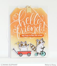 mama elephant | design blog: STAMP HIGHLIGHTS : HELLO FRIEND WISHES