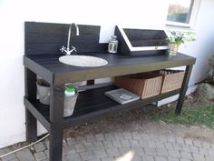 Pottery bench / Outdoor kitchen
