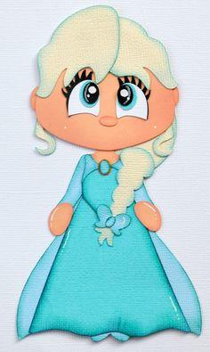 Craftecafe Disney Frozen Elsa Paper Piecing for Premade Scrapbook Page Layout | eBay