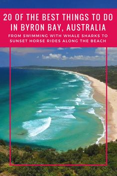 20 OF THE BEST THINGS TO DO IN BYRON BAY, AUSTRALIA. Travel to Byron Bay and tick of this bucket list of must-see places and fun adventure activities in Byron Bay, new south wales. The light house, surfing, markets, sunsets, hinterland, waterfalls, beaches, activities, food and restaurants   Fun things to do in Byron Bay   Great things to do in Byron Bay   Best places to visit in australia #byronbay #australia #thingstodo #places