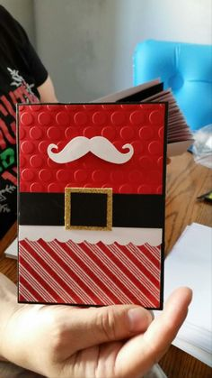 Splitcoaststampers FOOGallery - Santa Mustache you a question naughty or nice?