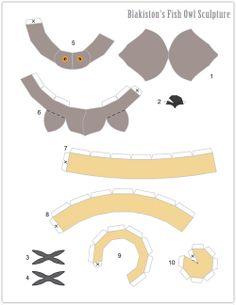 My Owl Barn: DIY: Coruja Escultura Grammar Jokes, Felt Owls, Crafty Projects, Fall Crafts, Baby Animals, Origami, Paper Crafts, Birds, Sculpture