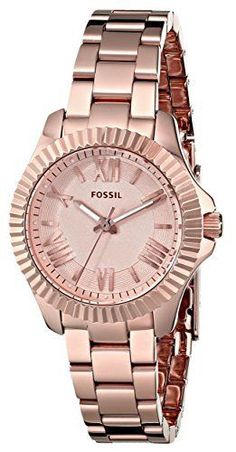 Fossil Women's AM4611 Cecile Small Rose Gold-Tone Stainless Steel Watch