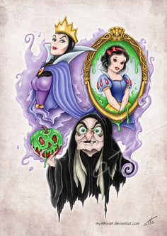 43 trendige Tattoo-Ideen Disney Villains Evil Queens - New Ideas Disney Pixar, Disney Marvel, Disney Fan Art, Disney Villains Art, Disney Animation, Disney Characters, Dark Disney, Cute Disney, Disney Magic
