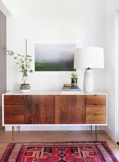 Midcentury entry table