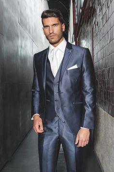 c5fbc5092 Wholesale New arrival 2015 Slim Fit Navy Blue Handsome Wedding Ceremony  suit Groom Tuxedos Bridegroom Suit Jacket+Pants+Tie+Vest